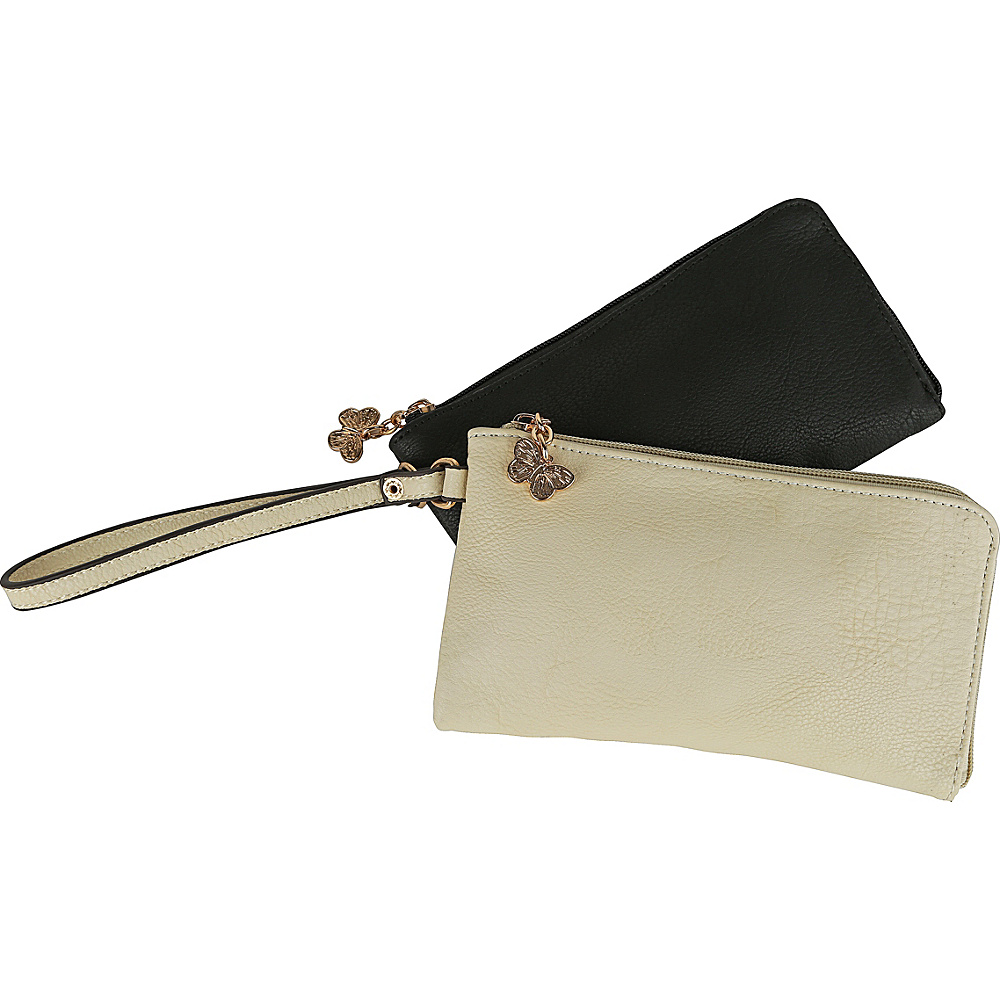 MKF Collection by Mia K. Farrow Tropical Breeze Wristlet Wallet Black - MKF Collection by Mia K. Farrow Womens Wallets - Women's SLG, Women's Wallets
