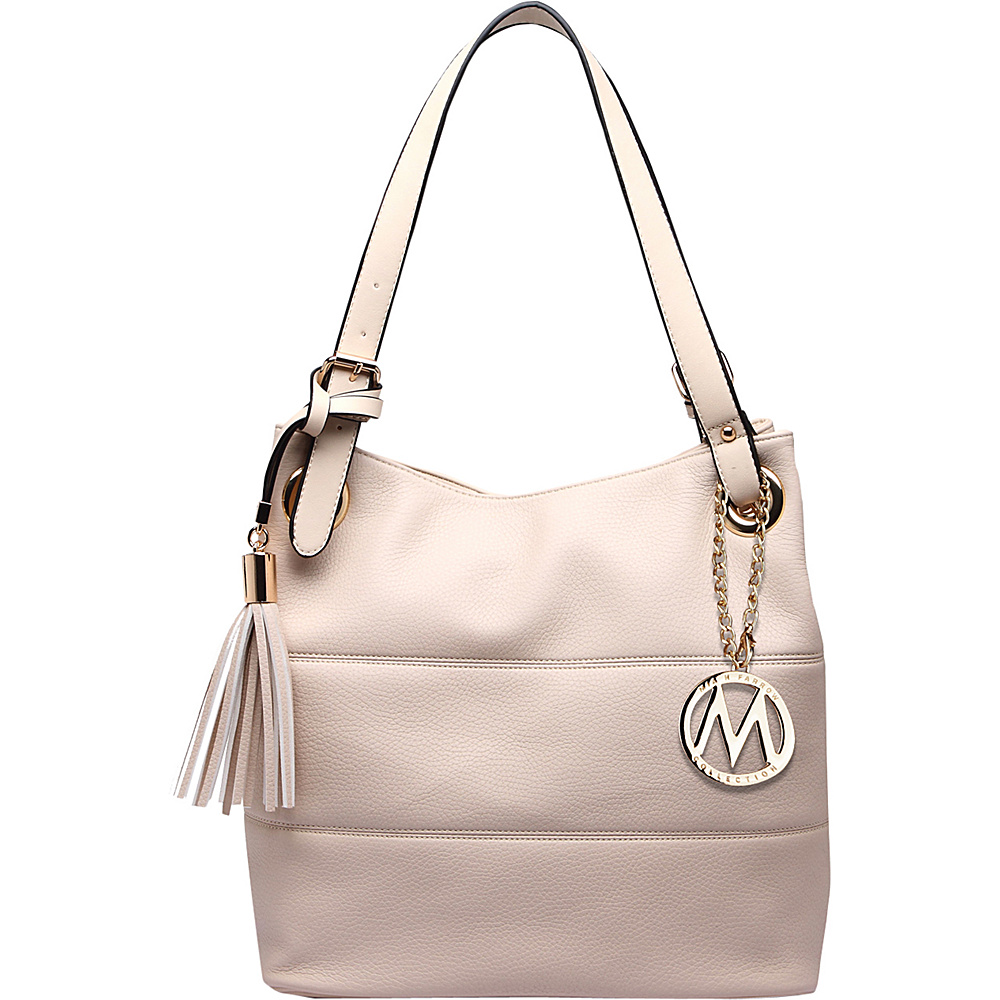 MKF Collection by Mia K. Farrow Margaret Awakening Shoulder Bag Beige - MKF Collection by Mia K. Farrow Manmade Handbags - Handbags, Manmade Handbags