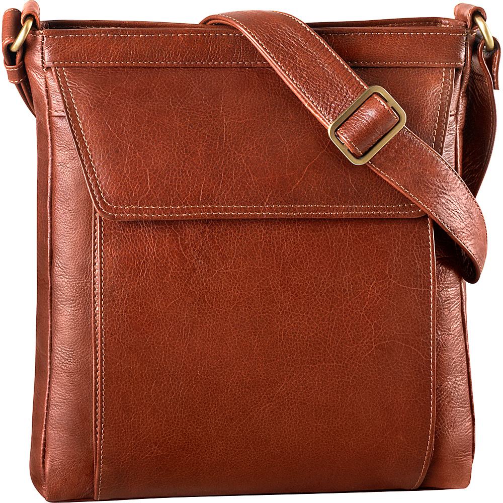 Derek Alexander Medium Tablet-Friendly Crossbody Whisky - Derek Alexander Leather Handbags - Handbags, Leather Handbags