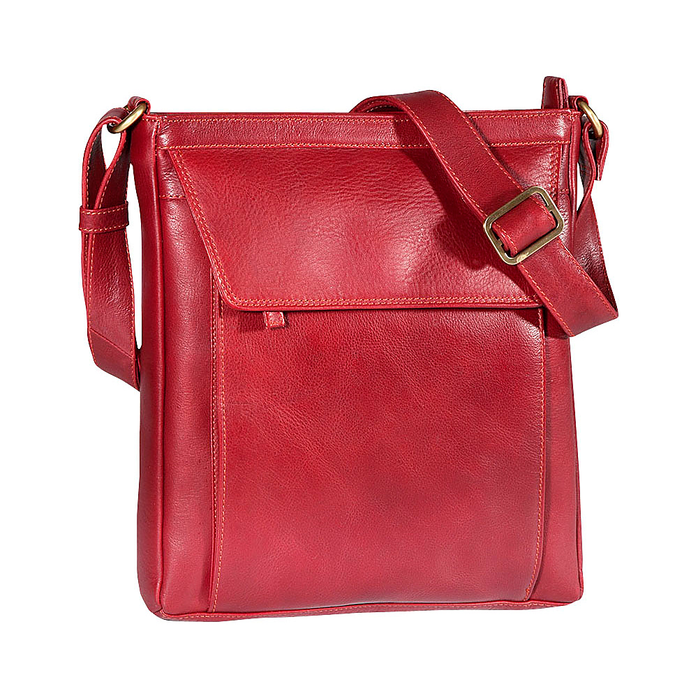 Derek Alexander Medium Tablet-Friendly Crossbody Red - Derek Alexander Leather Handbags - Handbags, Leather Handbags