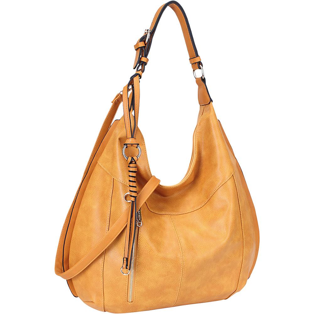 Dasein Vintage Convertible Hobo Tan - Dasein Manmade Handbags - Handbags, Manmade Handbags