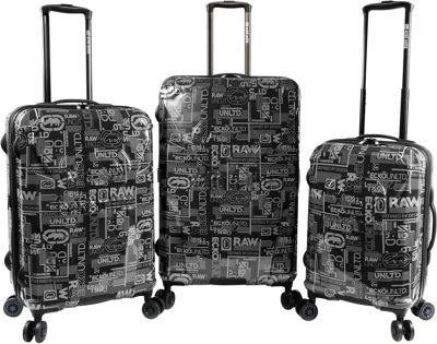 Ecko Unltd Ecko Unltd Garrison 3 Piece Expandable Hardside Spinner Luggage Set Black - Ecko Unltd Luggage Sets