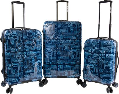 Ecko Unltd Garrison 3 Piece Expandable Hardside Spinner Luggage Set Navy - Ecko Unltd Luggage Sets