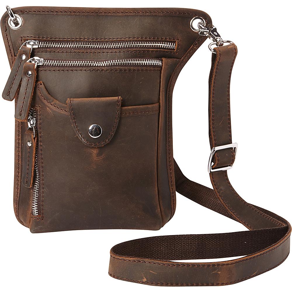 Vagabond Traveler 10 Cross-Body Shoulder Bag Dark Brown - Vagabond Traveler Other Mens Bags - Work Bags & Briefcases, Other Men's Bags