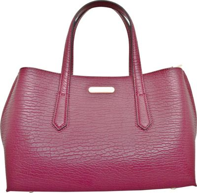 Leatherbay Patria Tote Wine Red - Leatherbay Leather Handbags
