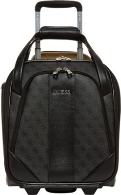 GUESS Travel Nissana 16 inch Wheeled Underseater Carry-On Luggage Charcoal with Silver Hardware - GUESS Travel Softside Carry-On