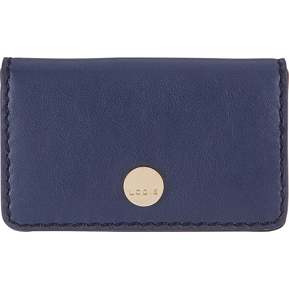 Lodis Downtown RFID Mini Card Case Navy/Black - Lodis Womens Wallets - Women's SLG, Women's Wallets