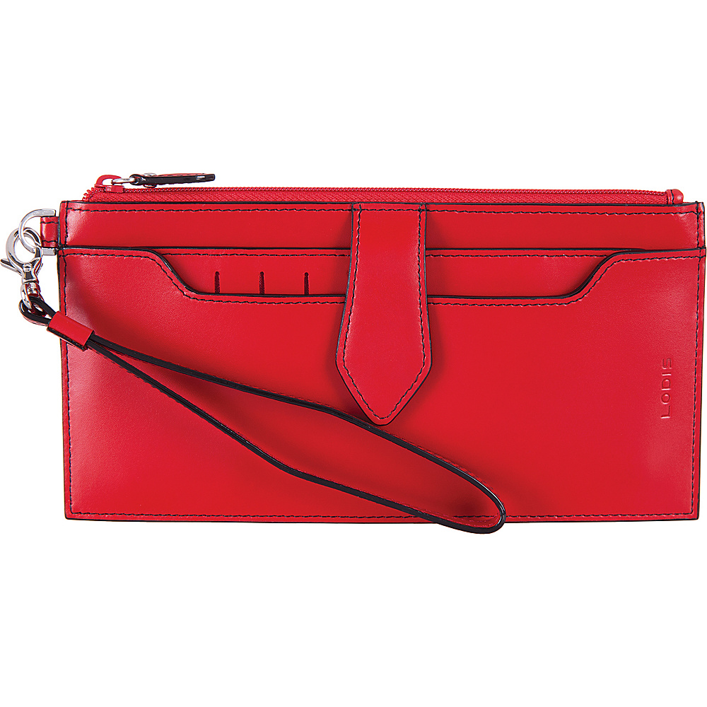 Lodis Audrey RFID Queenie Wallet With Removable Card Case Red - Lodis Womens Wallets - Women's SLG, Women's Wallets