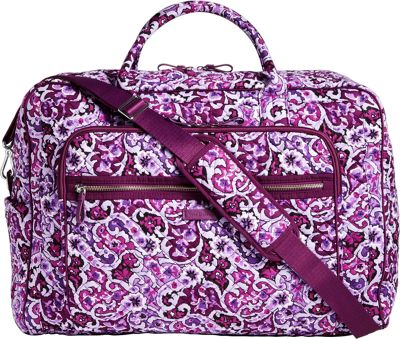 Vera Bradley Iconic Grand Weekender Travel Bag Lilac Paisley - Vera Bradley Travel Duffels