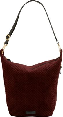 Vera Bradley Carson Hobo Bag Chocolate Raisin - Vera Bradley Fabric Handbags