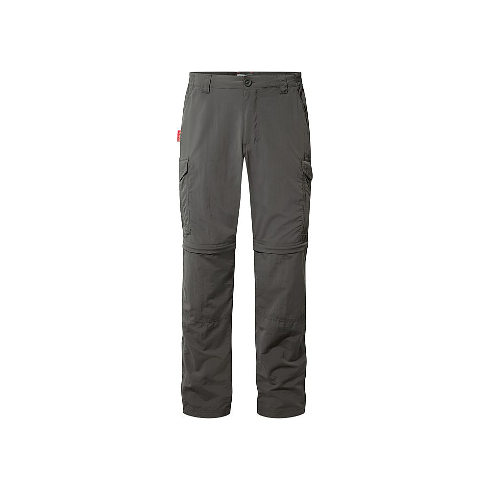 Craghoppers Nat Geo NosiLife Convertible Trousers 36 - Short - Bark - Craghoppers Mens Apparel - Apparel & Footwear, Men's Apparel