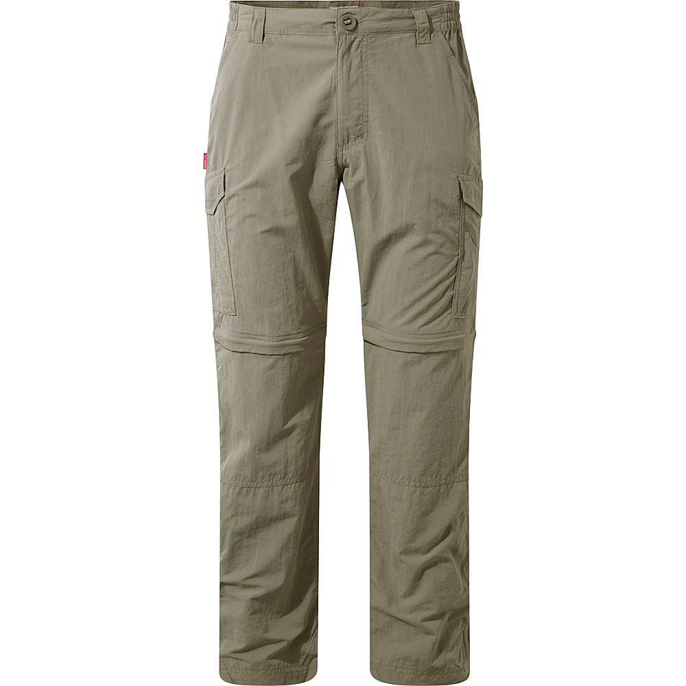 Craghoppers Nat Geo NosiLife Convertible Trousers 32 - Short - Pebble - Craghoppers Mens Apparel - Apparel & Footwear, Men's Apparel
