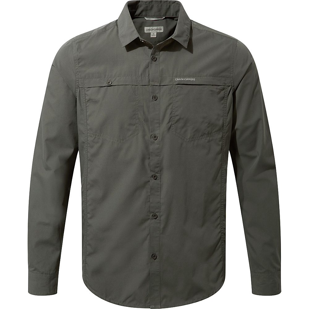 Craghoppers Kiwi Trek Long Sleeve Shirt S - Ashen - Craghoppers Mens Apparel - Apparel & Footwear, Men's Apparel