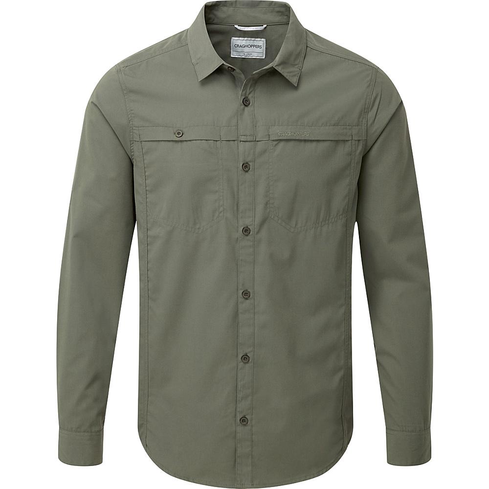 Craghoppers Kiwi Trek Long Sleeve Shirt 2XL - Parka Green - Craghoppers Mens Apparel - Apparel & Footwear, Men's Apparel