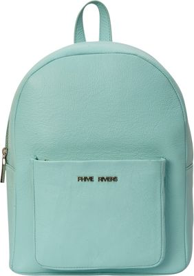 Phive Rivers Front Pocket Leather Backpack Seagreen - Phive Rivers Leather Handbags