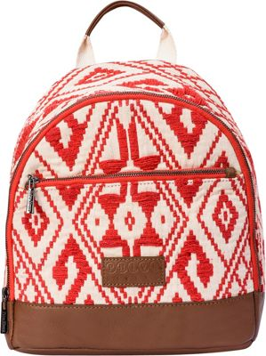 Phive Rivers Jacquard Woven Backpack Red - Phive Rivers Leather Handbags