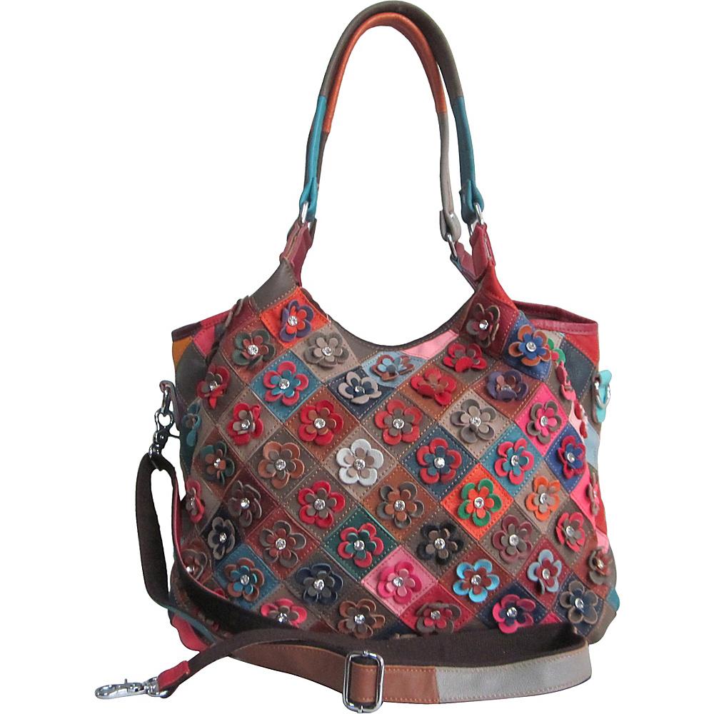 AmeriLeather Winstel Leather Tote Rainbow - AmeriLeather Leather Handbags - Handbags, Leather Handbags