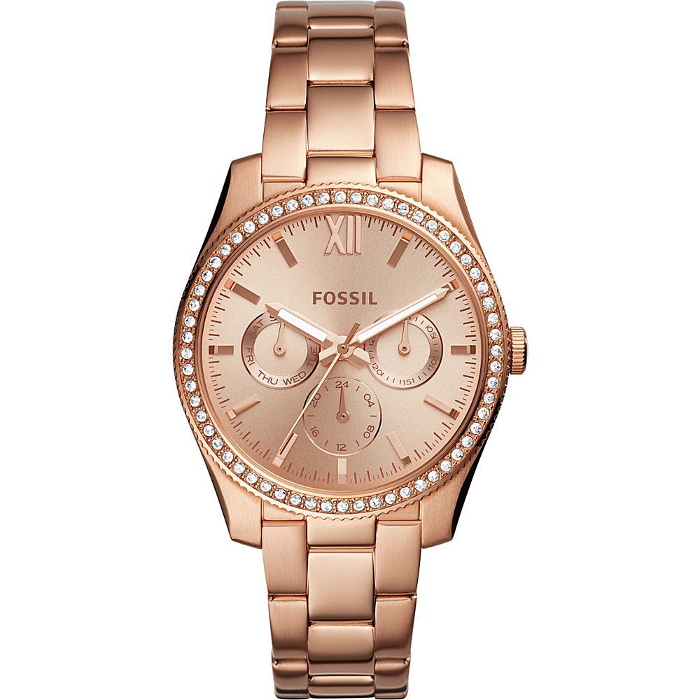 Fossil Scarlette Multifunction Stainless Steel Watch Rose Gold - Fossil Watches - Fashion Accessories, Watches