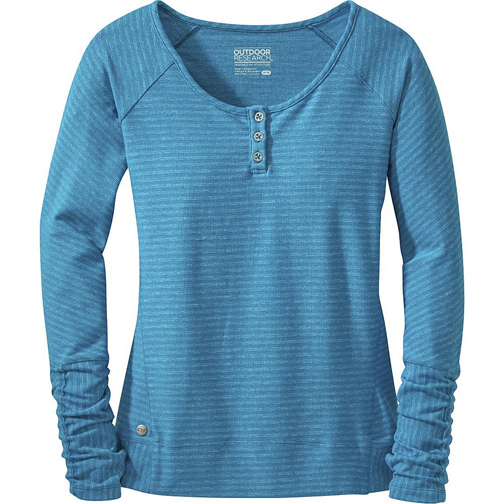 Outdoor Research Womens Mikala Henley Shirt L - Oasis - Outdoor Research Womens Apparel - Apparel & Footwear, Women's Apparel
