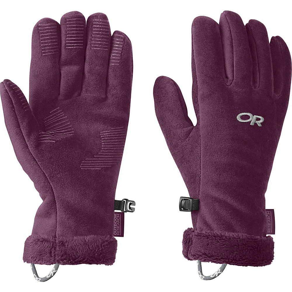 Outdoor Research Womens Fuzzy Sensor Gloves M - Orchid - Outdoor Research Hats/Gloves/Scarves - Fashion Accessories, Hats/Gloves/Scarves