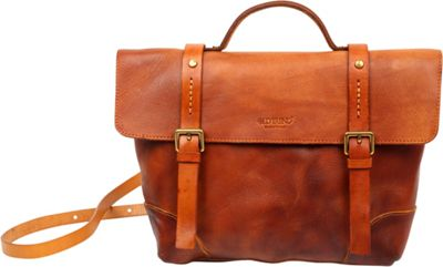 Old Trend Brookside Briefcase Crossbody Chestnut - Old Trend Leather Handbags