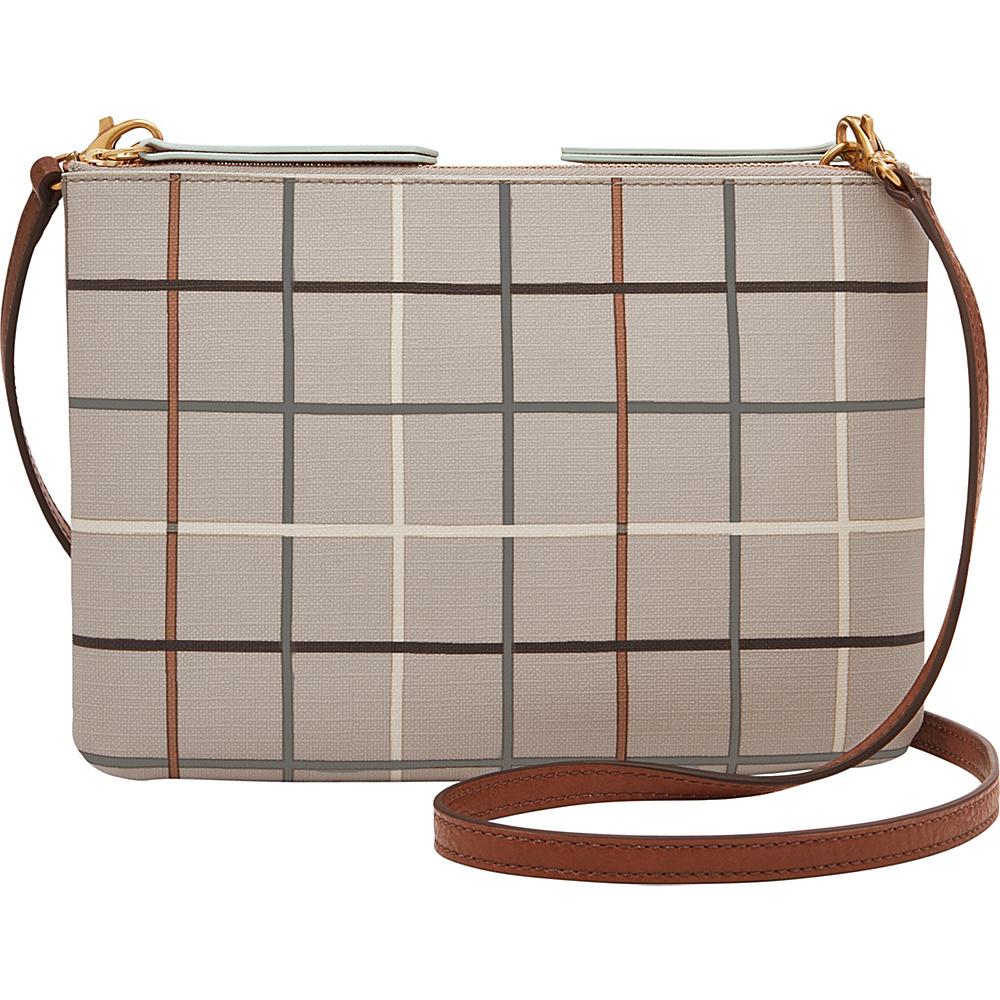 Fossil Devon Crossbody Grey - Fossil Manmade Handbags - Handbags, Manmade Handbags