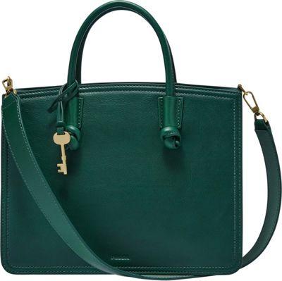 Fossil Skylar Satchel Alpine Green - Fossil Leather Handbags
