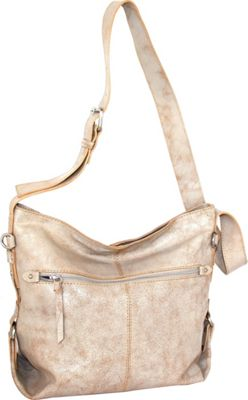 Nino Bossi Gillan Crossbody Hobo White/Beige - Nino Bossi Leather Handbags