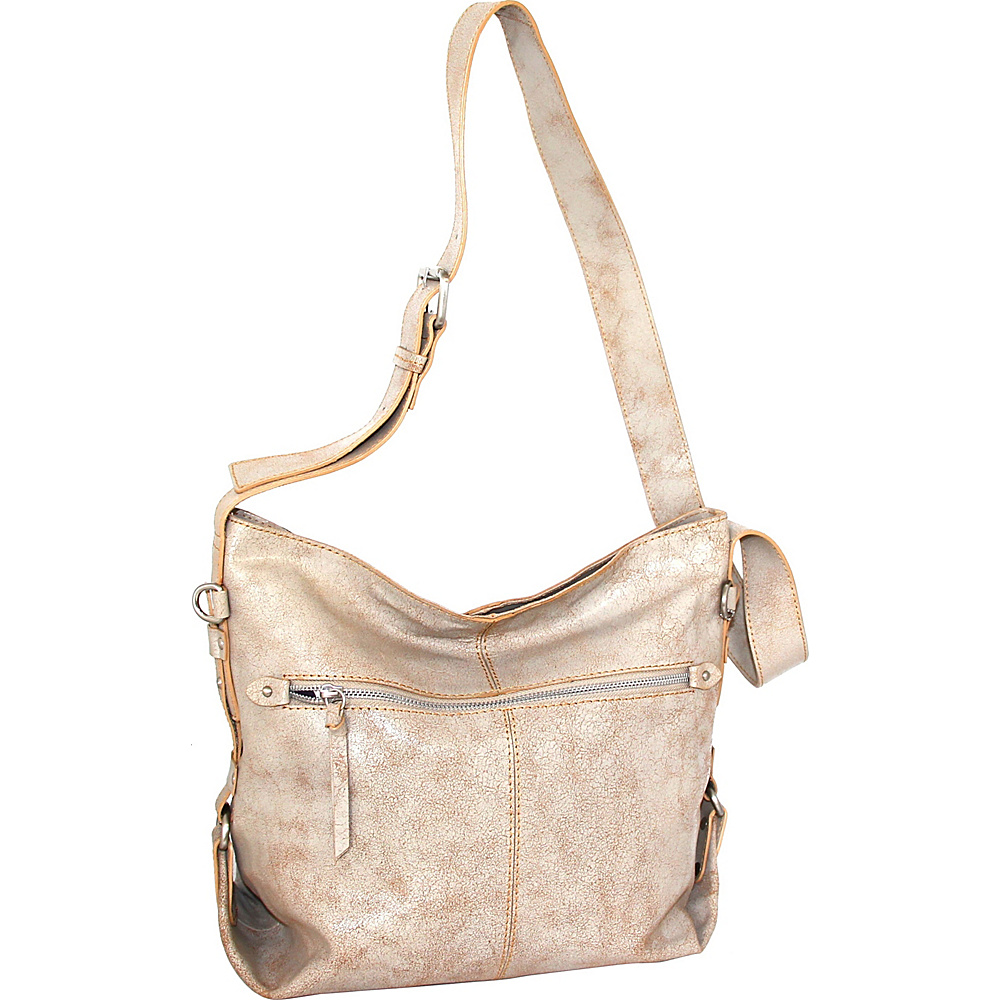Nino Bossi Gillan Crossbody Hobo White/Beige - Nino Bossi Leather Handbags - Handbags, Leather Handbags