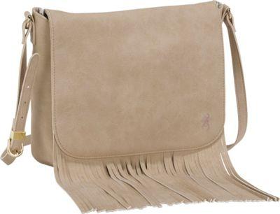 Browning Dakota Concealed Carry Shoulder Bag Tan - Browning Leather Handbags