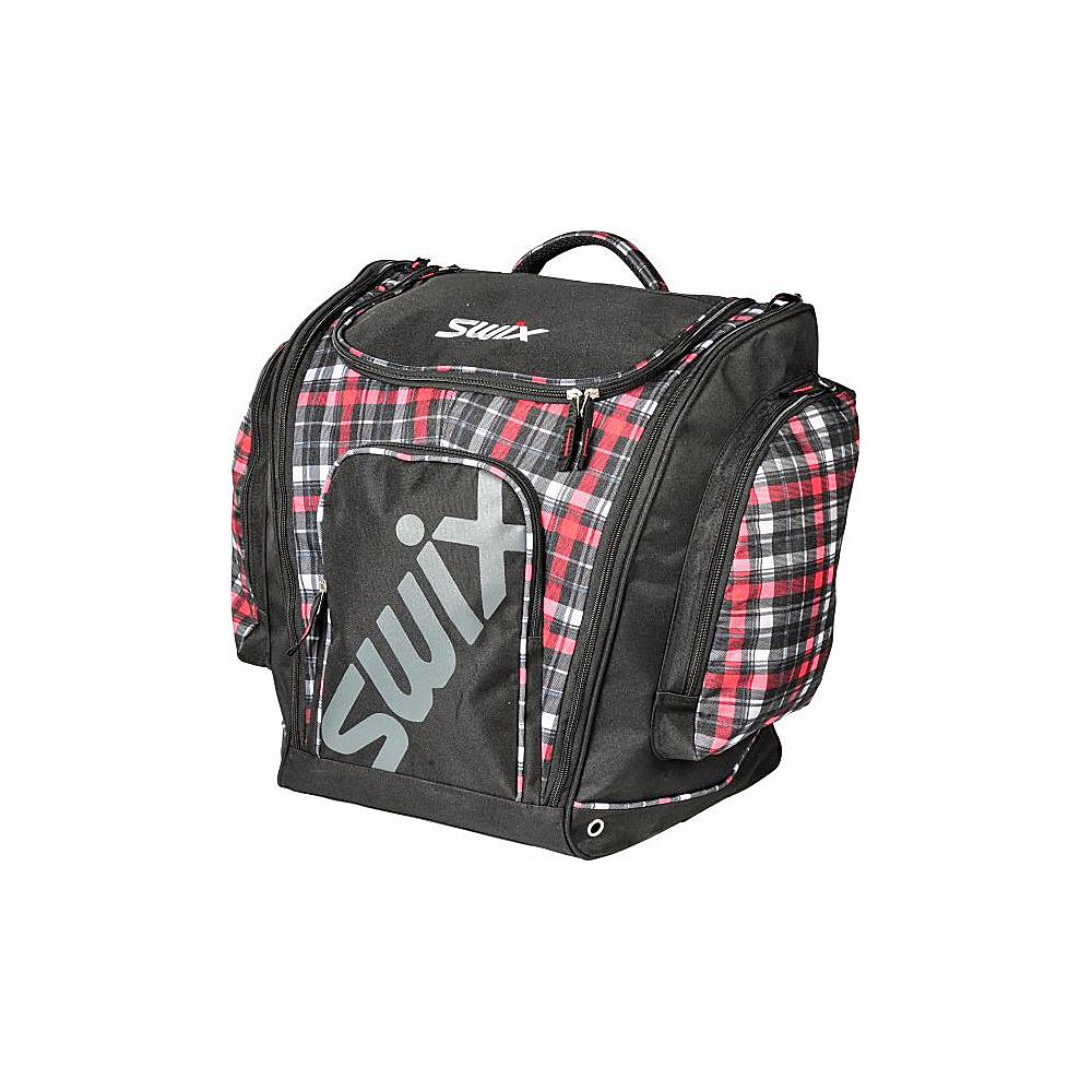 4455166801 Swix Carney Tri Pack Boot Bag Camey Red Black Plaid - Swix Ski and Snowboard