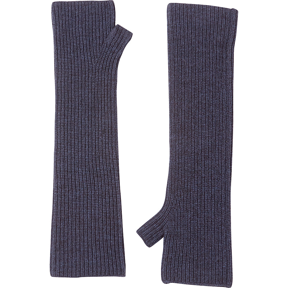 Kinross Cashmere Rib Texting Gloves One Size - Dusk - Kinross Cashmere Hats/Gloves/Scarves - Fashion Accessories, Hats/Gloves/Scarves