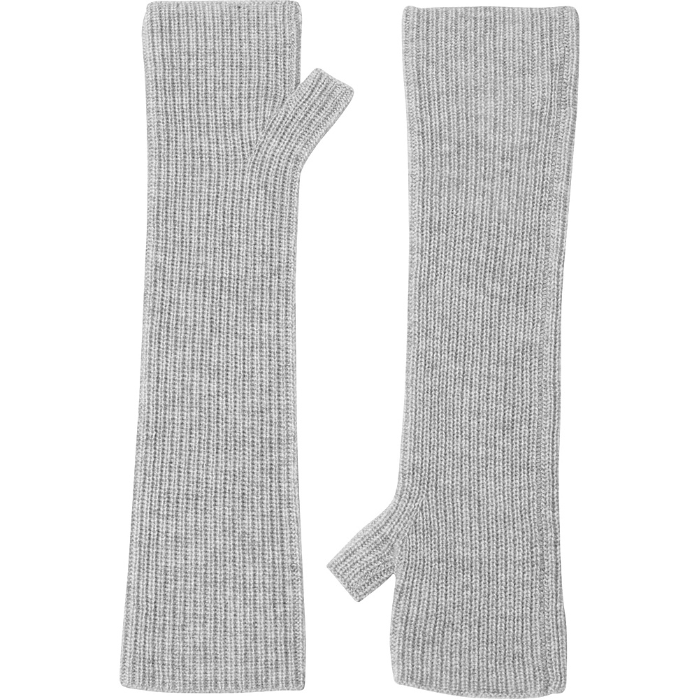 Kinross Cashmere Rib Texting Gloves One Size - Sterling - Kinross Cashmere Hats/Gloves/Scarves - Fashion Accessories, Hats/Gloves/Scarves