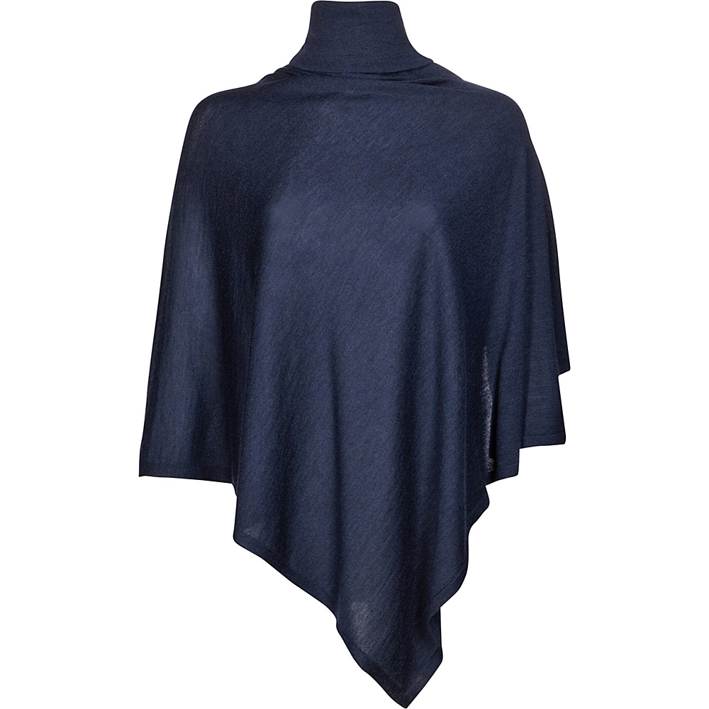 Kinross Cashmere Worsted Drapeneck Poncho One Size  - Dusk - Kinross Cashmere Womens Apparel - Apparel & Footwear, Women's Apparel