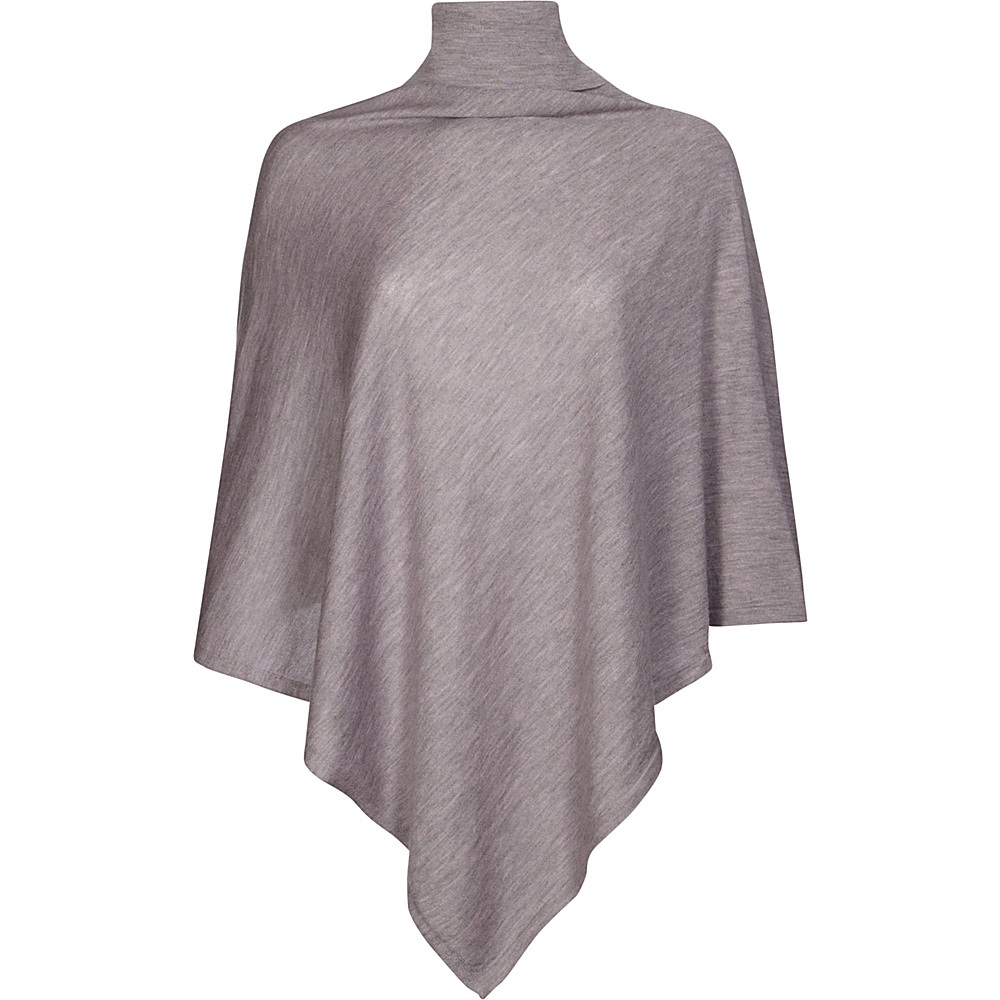 Kinross Cashmere Worsted Drapeneck Poncho One Size  - Thistle - Kinross Cashmere Womens Apparel - Apparel & Footwear, Women's Apparel