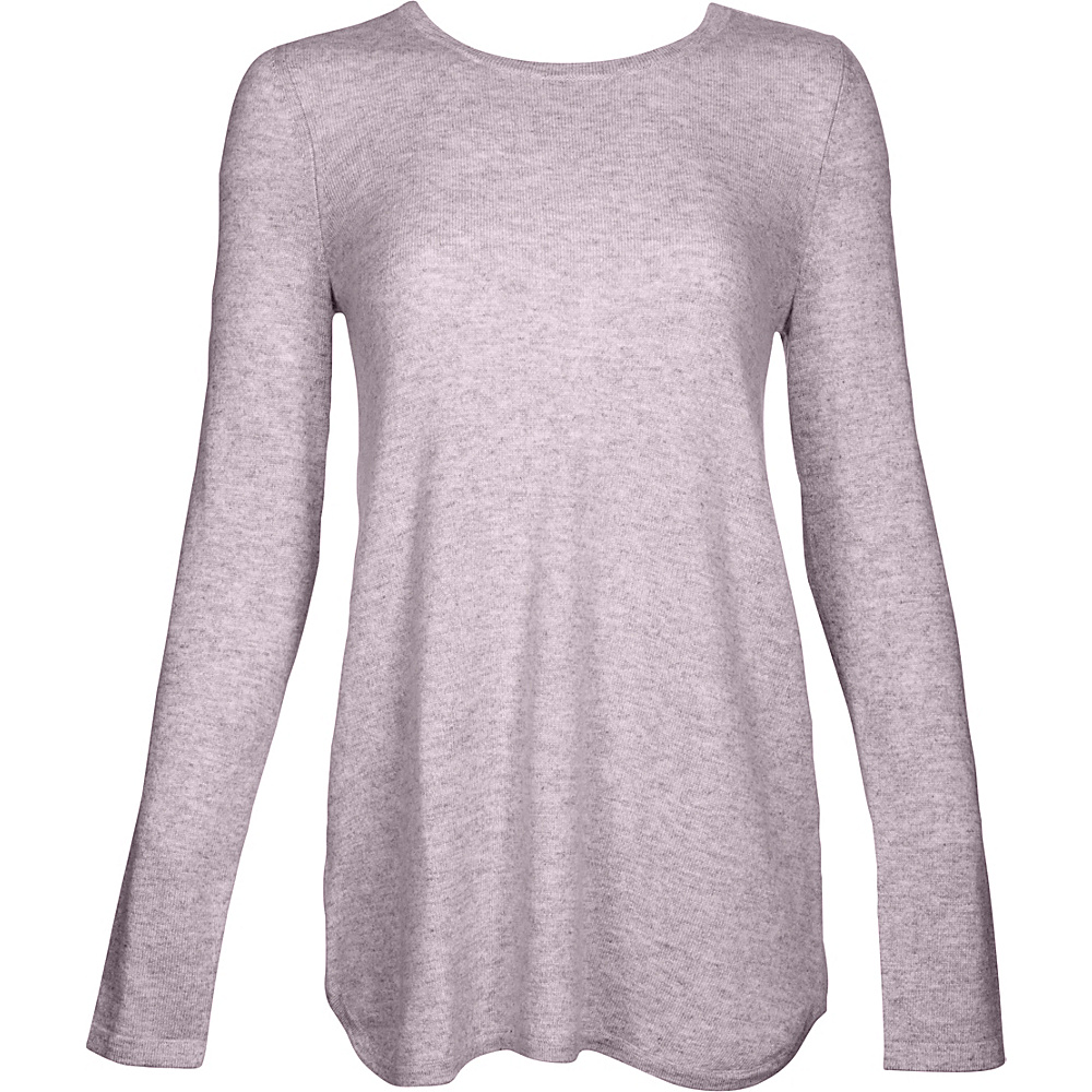 Kinross Cashmere Pleat Back Tunic M - Thistle - Kinross Cashmere Womens Apparel - Apparel & Footwear, Women's Apparel