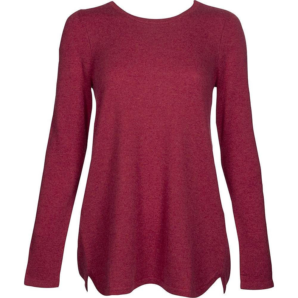 Kinross Cashmere Pleat Back Tunic XS - Vermillion - Kinross Cashmere Womens Apparel - Apparel & Footwear, Women's Apparel