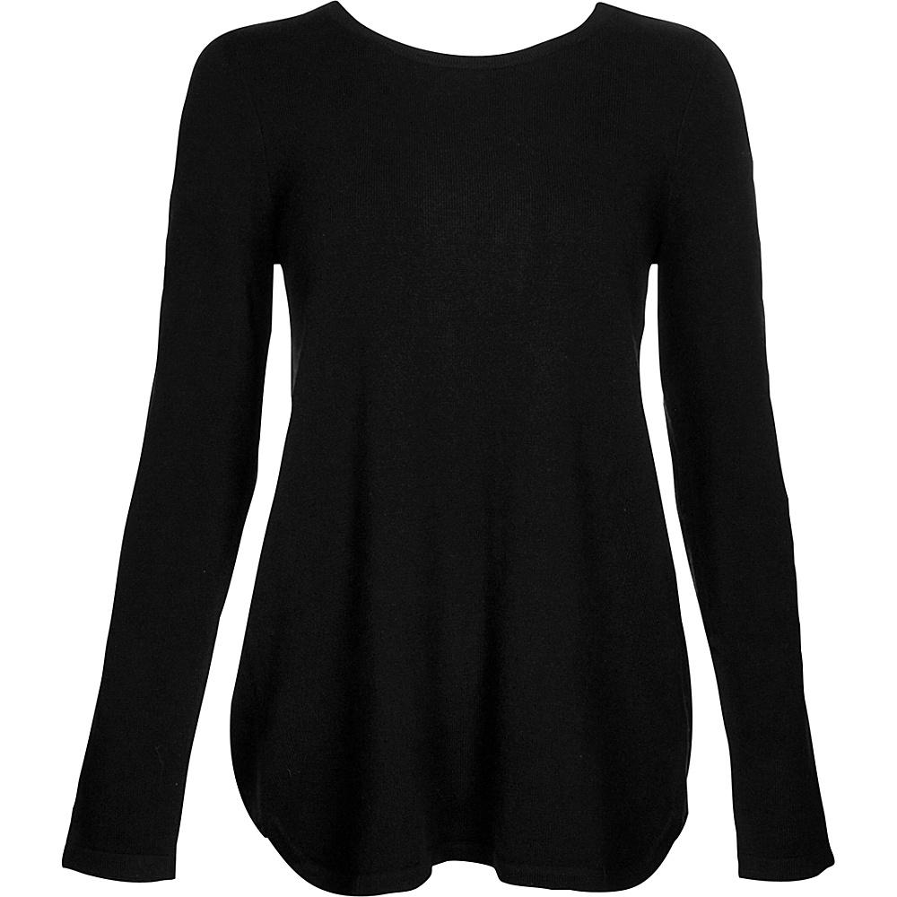 Kinross Cashmere Pleat Back Tunic S - Black - Kinross Cashmere Womens Apparel - Apparel & Footwear, Women's Apparel