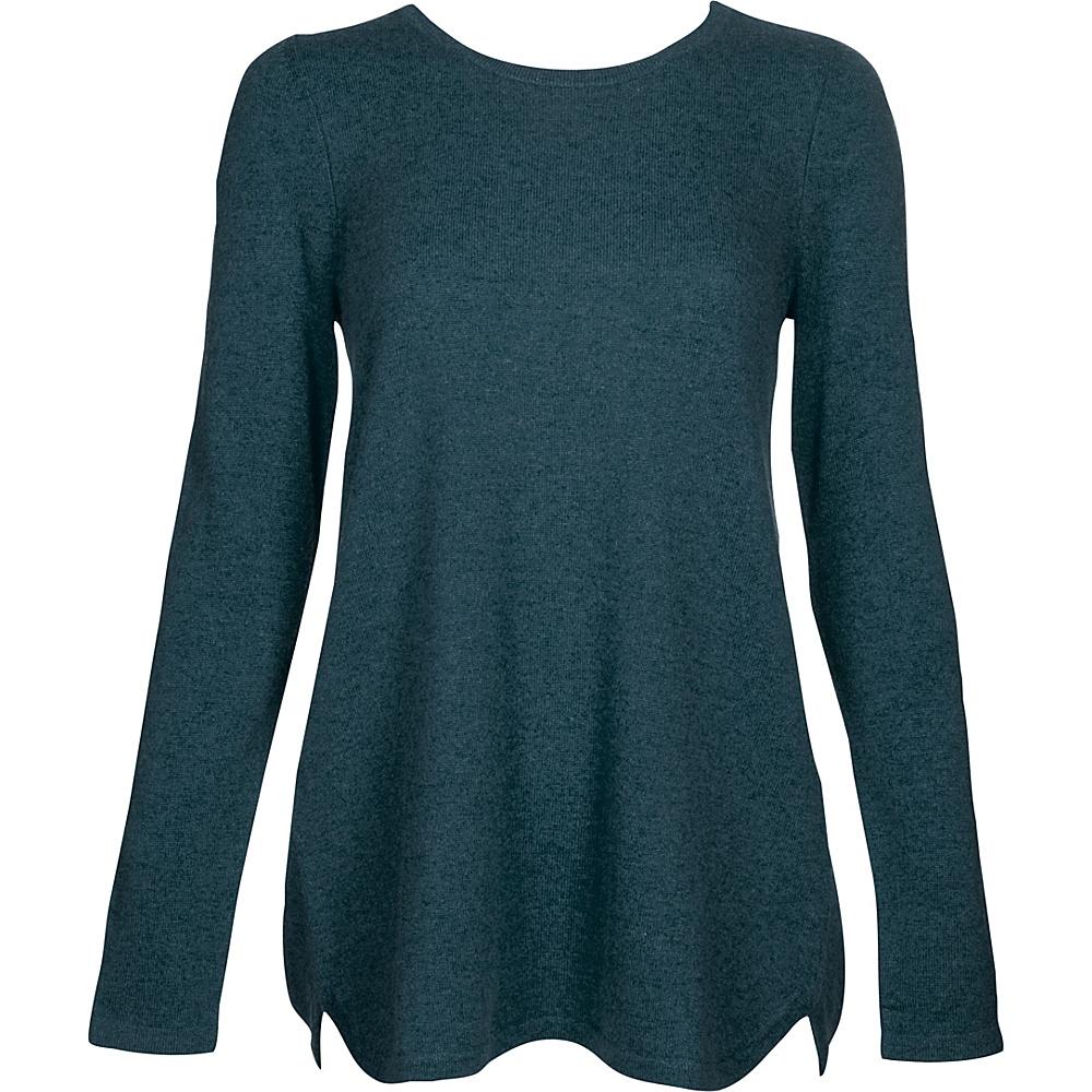 Kinross Cashmere Pleat Back Tunic S - Blue Spruce - Kinross Cashmere Womens Apparel - Apparel & Footwear, Women's Apparel
