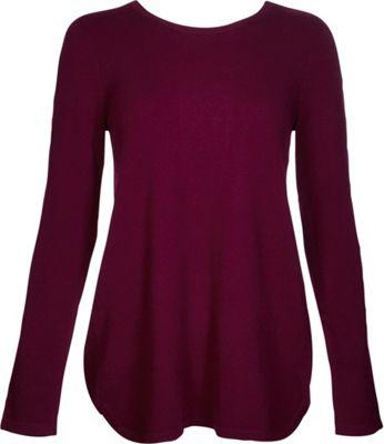 Kinross Cashmere Pleat Back Tunic S - Cassis - Kinross Cashmere Women's Apparel