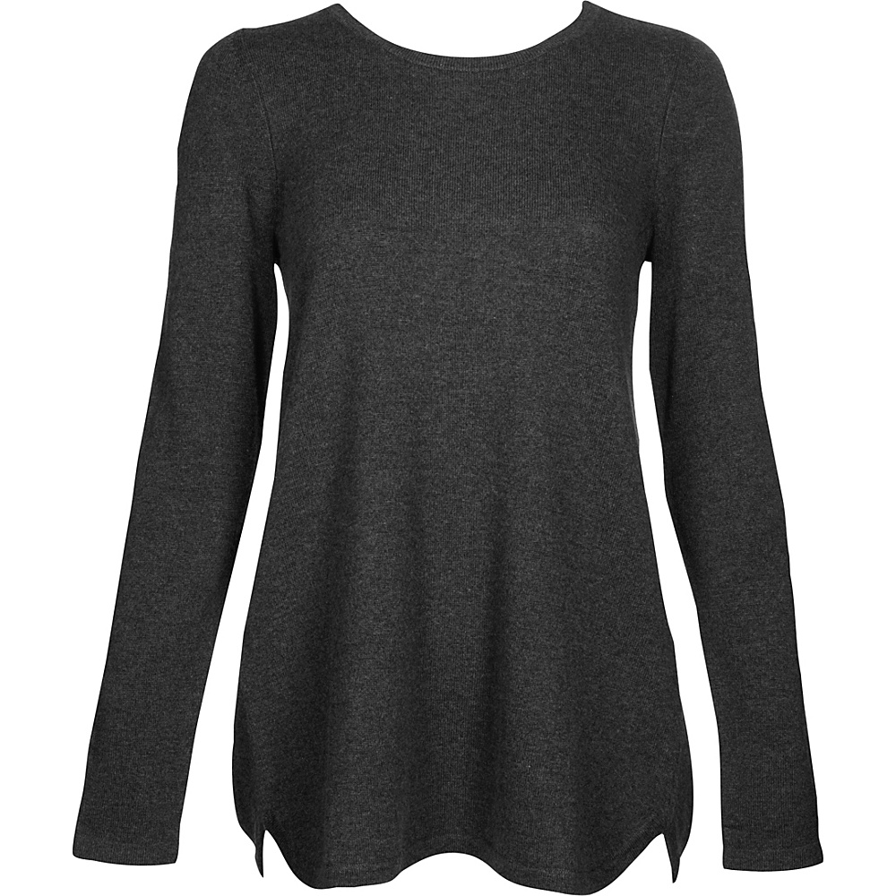 Kinross Cashmere Pleat Back Tunic XS - Charcoal - Kinross Cashmere Womens Apparel - Apparel & Footwear, Women's Apparel