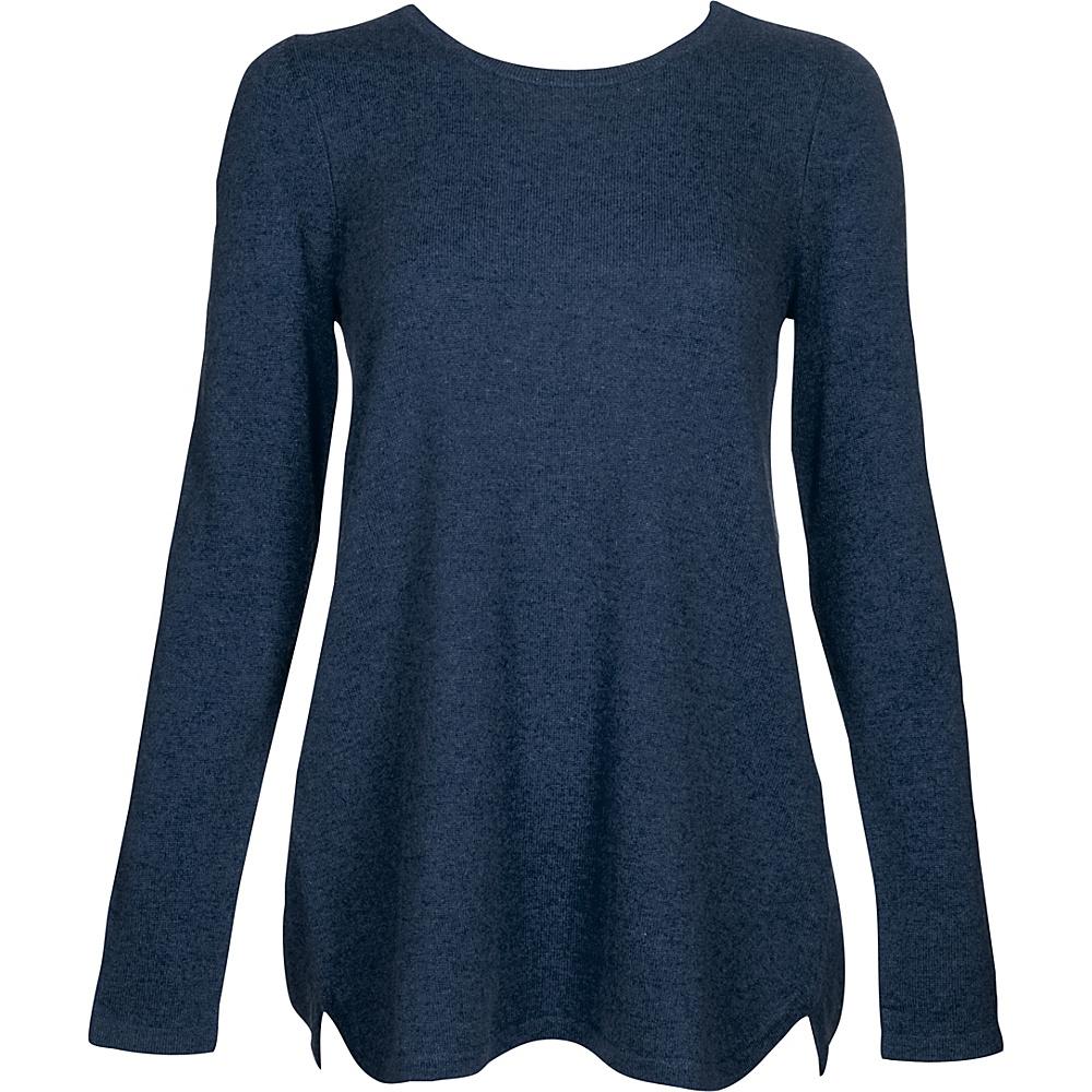 Kinross Cashmere Pleat Back Tunic XS - Dusk - Kinross Cashmere Womens Apparel - Apparel & Footwear, Women's Apparel