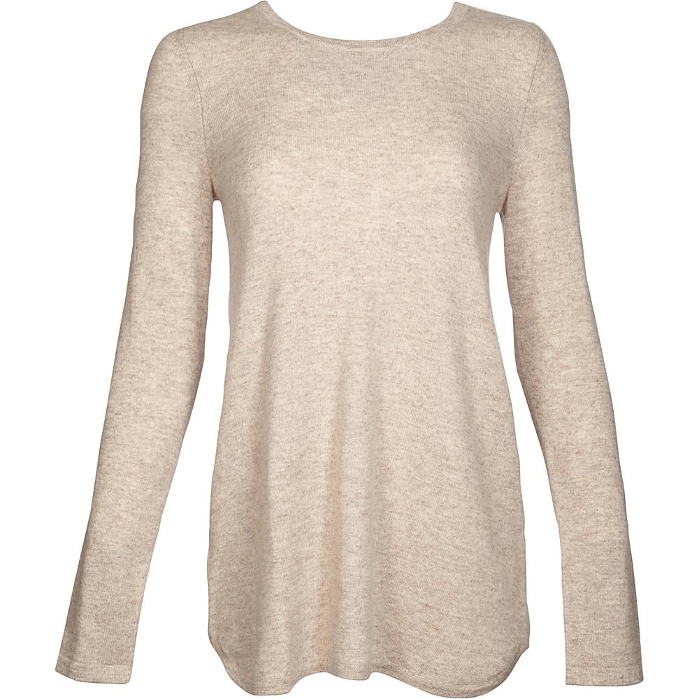 Kinross Cashmere Pleat Back Tunic XS - Fawn - Kinross Cashmere Womens Apparel - Apparel & Footwear, Women's Apparel