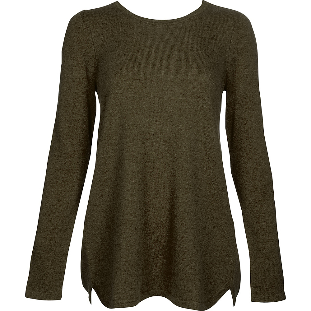 Kinross Cashmere Pleat Back Tunic S - Figue - Kinross Cashmere Womens Apparel - Apparel & Footwear, Women's Apparel