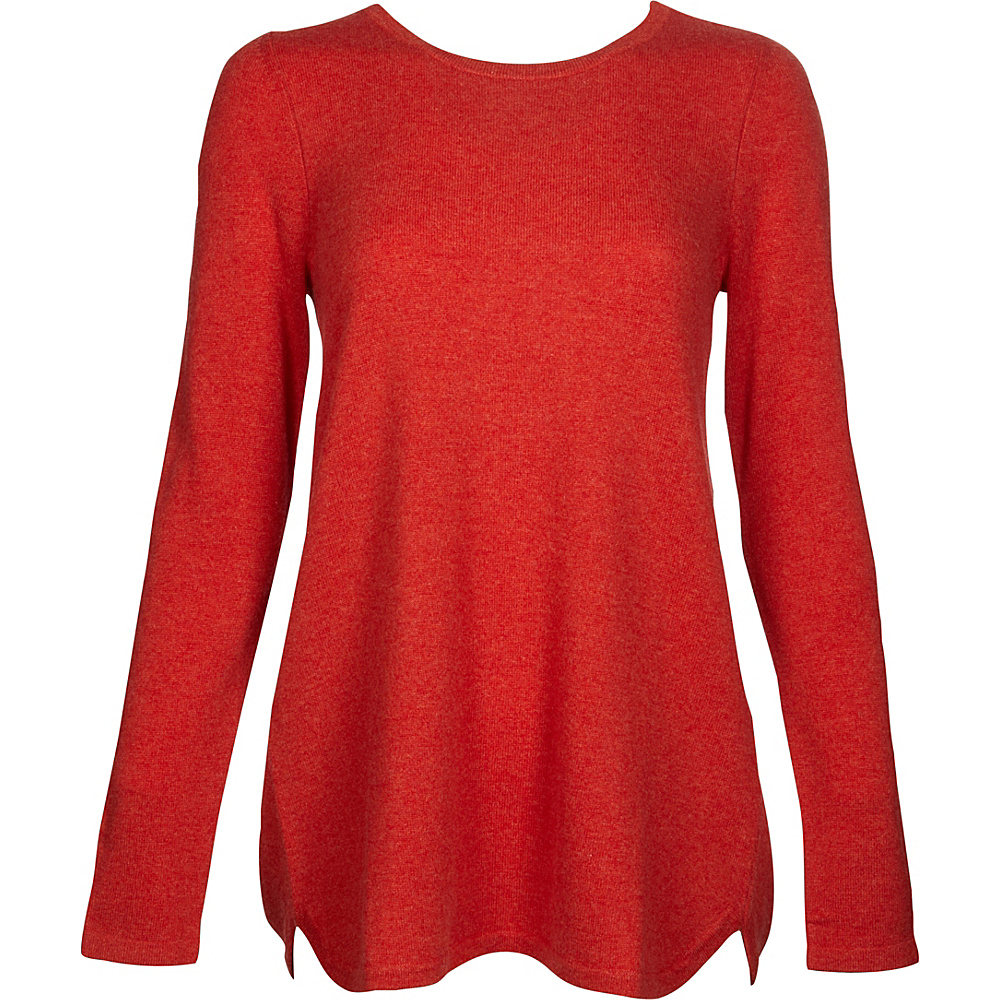 Kinross Cashmere Pleat Back Tunic S - Sunset - Kinross Cashmere Womens Apparel - Apparel & Footwear, Women's Apparel