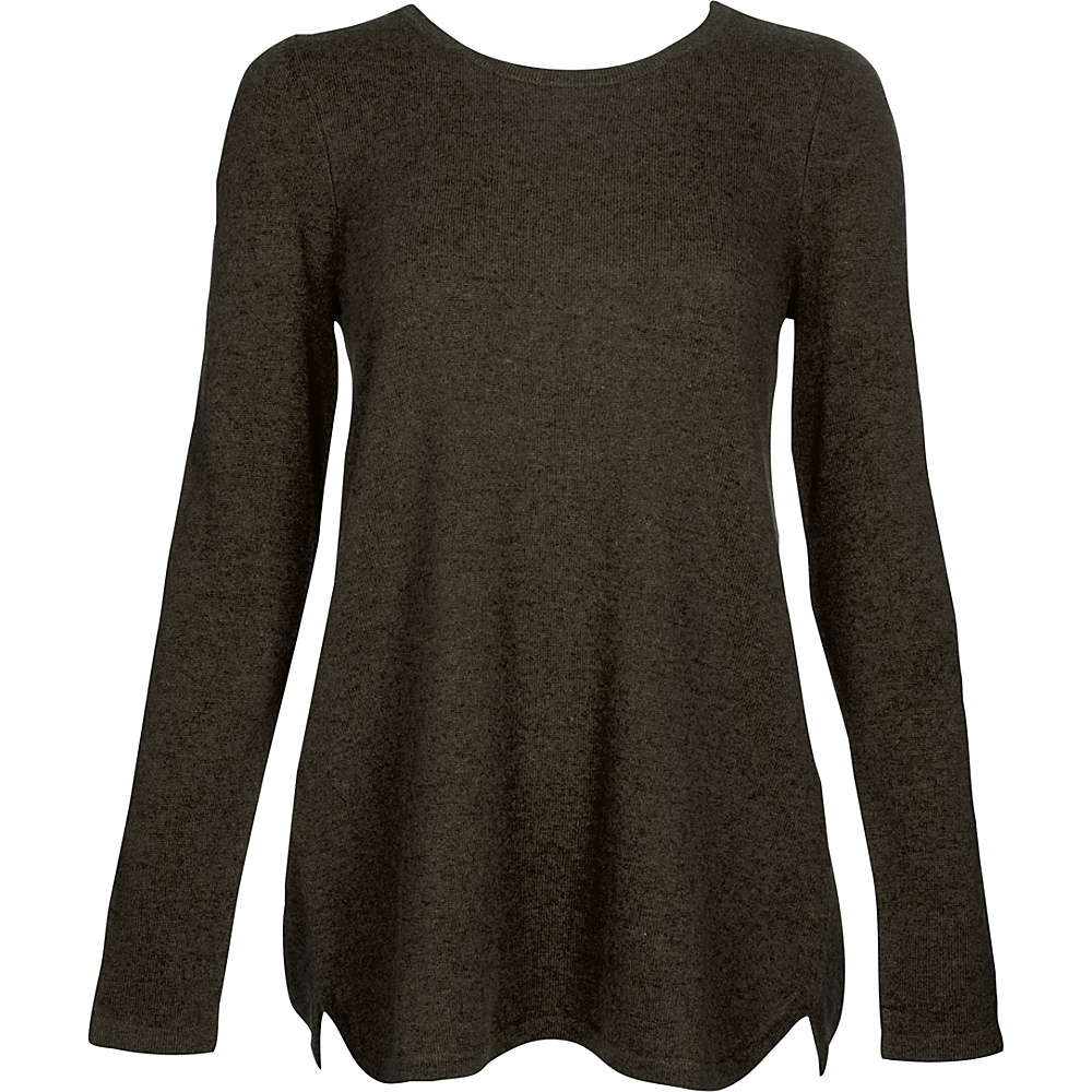 Kinross Cashmere Pleat Back Tunic XS - Teak - Kinross Cashmere Womens Apparel - Apparel & Footwear, Women's Apparel
