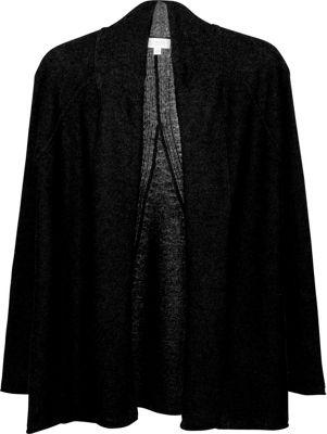 Kinross Cashmere Swing Back Cardigan XL - Black - Kinross Cashmere Women's Apparel