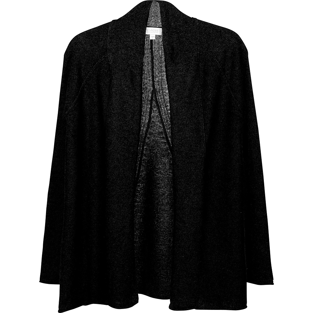 Kinross Cashmere Swing Back Cardigan L - Black - Kinross Cashmere Womens Apparel - Apparel & Footwear, Women's Apparel