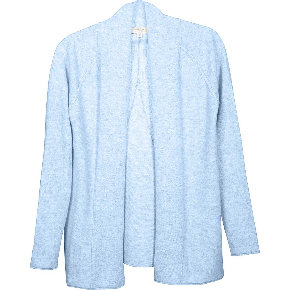 Kinross Cashmere Swing Back Cardigan M - Ciel - Kinross Cashmere Womens Apparel - Apparel & Footwear, Women's Apparel