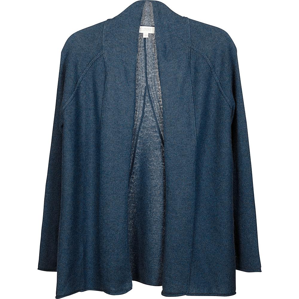 Kinross Cashmere Swing Back Cardigan S - Dusk - Kinross Cashmere Womens Apparel - Apparel & Footwear, Women's Apparel